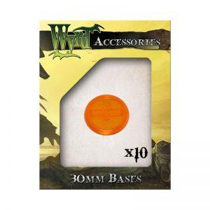 Wyrd   Translucent Bases Orange 30mm Translucent Bases - 10 Pack - WYR0061 - 813856014967