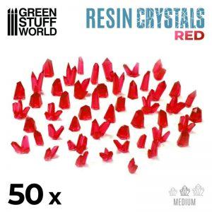 Green Stuff World   Green Stuff World Conversion Parts RED Resin Crystals - Medium - 8436574508864ES - 8436574508864