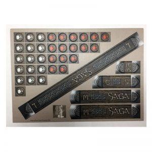 Gripping Beast SAGA  SAGA SAGA Cardboard Measuring Sticks & Tokens Set - SAGACARD01 -