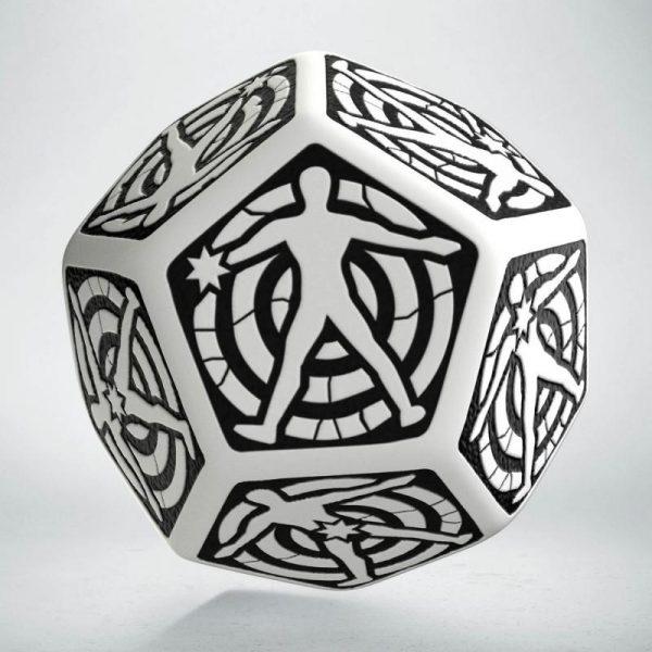 Q-Workshop   Q-Workshop Dice D12 Hit Location White & black die - 12HIT02 - 5907699493692