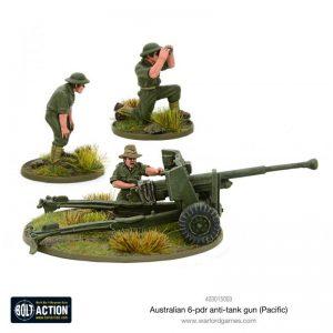 Warlord Games Bolt Action  Australia (BA) Australian 6-pdr Anti-tank Hun - 403015003 - 5060572500709