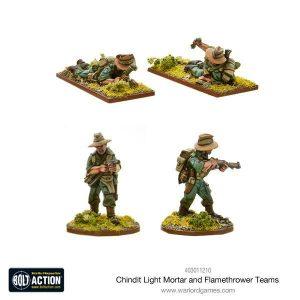 Warlord Games Bolt Action  Great Britain (BA) Chindit Flamethrower & Light mortar teams - 403011210 - 5060393708384