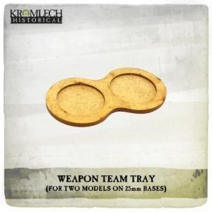 Kromlech   Movement Trays Weapon Team Tray (for two models on 25mm round bases) 7x - KHBAS007 - 5902216118287