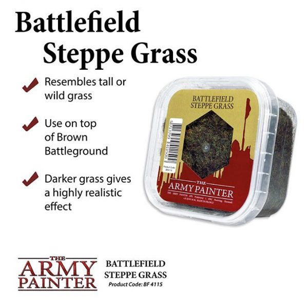 The Army Painter   Sand & Flock Battlefields: Steppe Grass - APBF4115 - 5713799411500