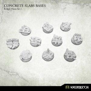 Kromlech   Concrete Slabs Bases Concrete Slabs Round 25mm Set 2 (10) - KRRB051 -