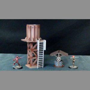 TTCombat   Wild West Scenics (28-32mm) Water Tower & Well - WWS036 - 5060504042659