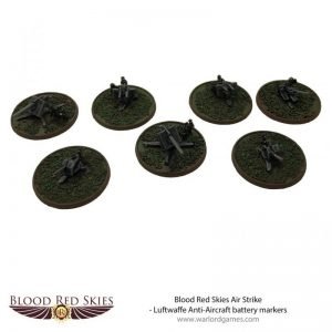 Warlord Games (Direct) Blood Red Skies  Blood Red Skies Blood Red Skies: Luftwaffe Anti-Aircraft battery markers - 773011002 -