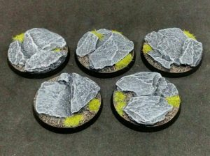 Baker Bases   Rocky Outcrop Rocky: 40mm Round Bases (5) - CB-RK-01-40M - CB-RK-01-40M