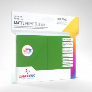 Gamegenic   SALE! Gamegenic Matte Prime Sleeves Green (100 pack) - GGS11031ML - 4251715402450