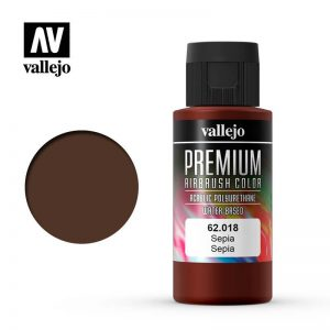 Vallejo   Premium Airbrush Colour Premium Color 60ml: Sepia - VAL62018 -