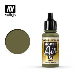 Vallejo   Model Air Model Air: US Light Green - VAL137 - 8429551711371