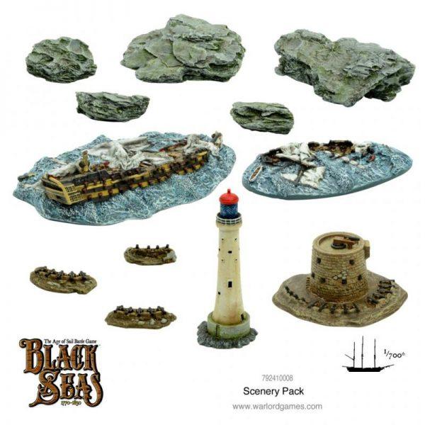 Warlord Games Black Seas  Black Seas Black Seas: Scenery Pack - 792410008 - 9781911281504