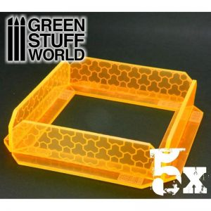 Green Stuff World   Green Stuff World Terrain 5x Small Energy Walls - Phosphorescent Orange - 8436554363902ES - 8436554363902