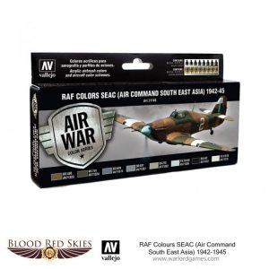 Vallejo Blood Red Skies  Paint Sets RAF Colors SEAC (Air Command South East Asia) 1942-1945 - VAL71146 - 8429551711463
