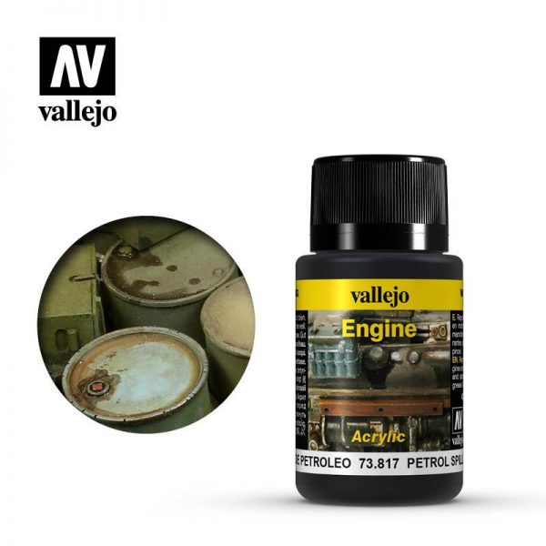 Vallejo   Weathering Effects Weathering Effects 40ml - Petrol Spills - VAL73817 - 8429551738170