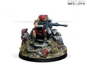 Corvus Belli Infinity  Ariadna Highlander Caterans (T2 Sniper Rifle) - 280144-0282 - 2801440002825