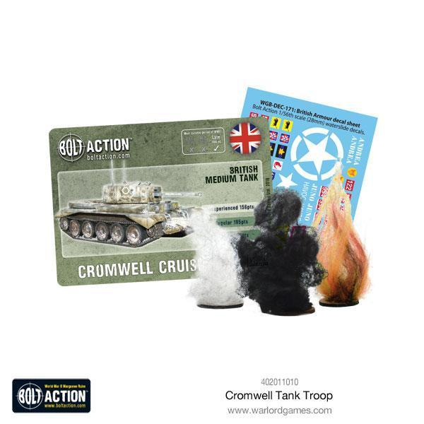 Warlord Games Bolt Action  Great Britain (BA) Cromwell Tank Troop - 402011010 - 5060393707561