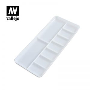 Vallejo   Paint Palettes AV Palette - Rectangular 18 x 8.5cm - VALHS121 - 5052418156607