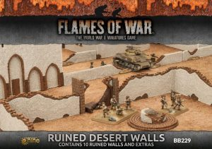 Gale Force Nine   Battlefield in a Box Flames of War: Ruined Desert Walls - BB229 - 9420020236943