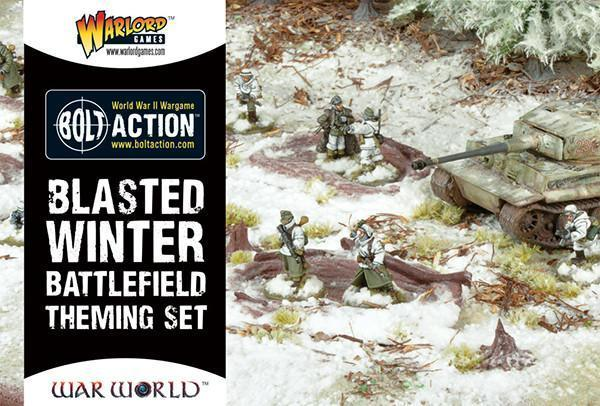 Warlord Games   Basing Kits Blasted Winter Battlefield Theme Set - WGS-BFT-01 - 5060393702900