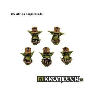 Kromlech   Orc Conversion Parts Orc Afrika Korps Heads (10) - KRCB046 - 5902216110441