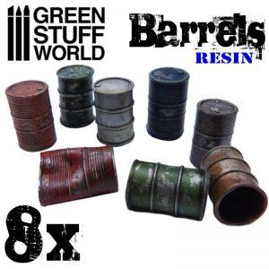 Green Stuff World   Green Stuff World Terrain 8x Resin Barrels - 8436574504071ES - 8436574504071