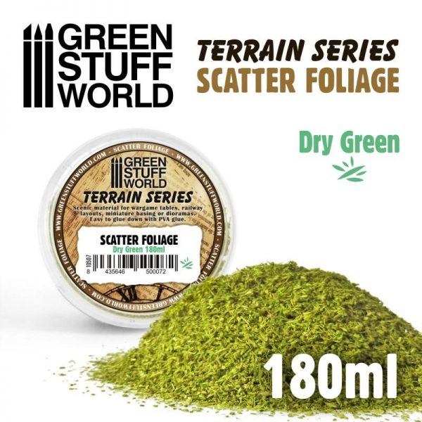 Green Stuff World   Lichen & Foliage Scatter Foliage - Dry Green - 180ml - 8435646500072ES - 8435646500072