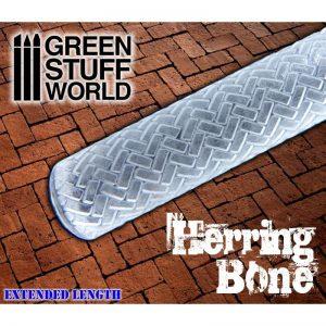 Green Stuff World   Rolling Pins Rolling Pin HERRINGBONE - 8436574500349ES - 8436574500349