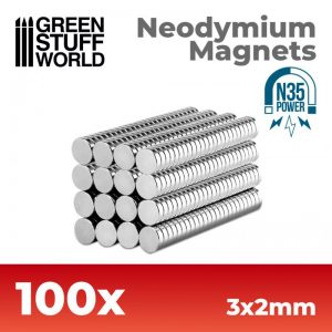 Green Stuff World   Magnets Neodymium Magnets 3x2mm - 100 units (N35) - 8436554365616ES - 8436554365616