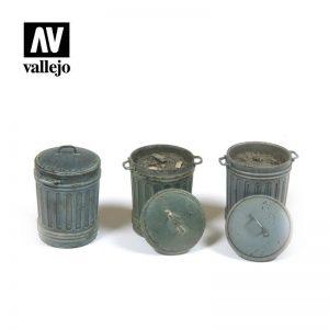 Vallejo   Vallejo Scenics Vallejo Scenics - 1:35 Garbage Bins 1 - VALSC212 - 8429551984829