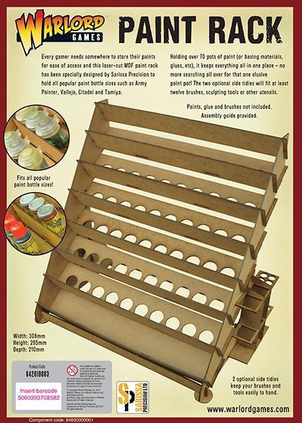 Warlord Games   Paint Racks Warlord Games Large Paint Rack - 842610003 - 5060393708582