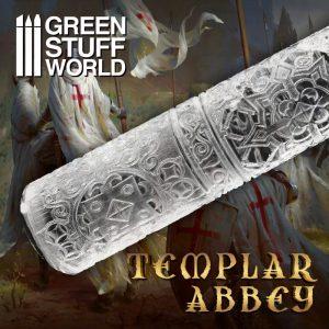 Green Stuff World   Rolling Pins Rolling Pin Templar Abbey - 8435646503479ES -