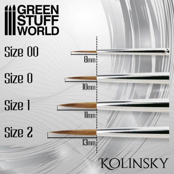 Green Stuff World   Kolinsky Sable Brushes SILVER SERIES Kolinsky Brush Set - 8436574506921ES - 8436574506921