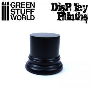 Green Stuff World   Display Plinths Round Display Plinth 4.5 cm - Black - 8436574501711ES - 8436574501711
