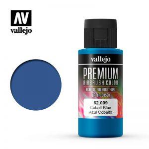 Vallejo   Premium Airbrush Colour AV Vallejo Premium Color - 60ml - Cobalt Blue - VAL62009 - 8429551620093