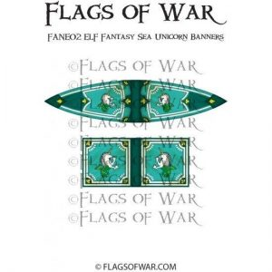 North Star Oathmark  Oathmark ELF Fantasy Sea Unicorn Banners - FANE02 -
