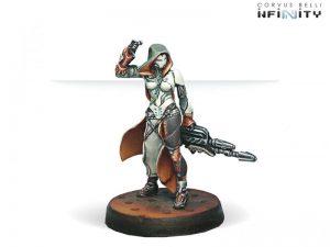 Corvus Belli Infinity  Nomads Reverend Custodiers (Hacker, Combi Rifle, Pitcher) - 280547-0302 - 2805470003029