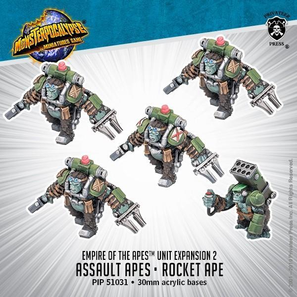 Privateer Press Monsterpocalypse  SALE! Monsterpocalypse Empire of the Apes Assault & Rocket Apes - PIP51031 - 875582024481