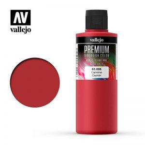 Vallejo   Premium Airbrush Colour AV Vallejo Premium Color - 200ml - Opaque Carmine - VAL63006 - 8429551630061