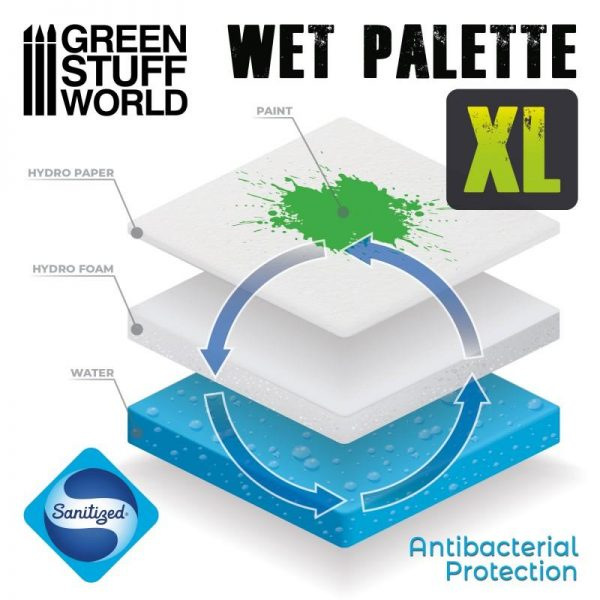 Green Stuff World   Paint Palettes Green Stuff World Wet Palette XL - 8435646501208ES - 8435646501208