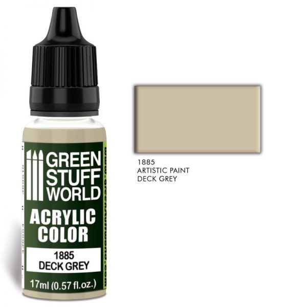 Green Stuff World   Acrylic Paints Acrylic Color DECK GREY - 8436574502442ES - 8436574502442