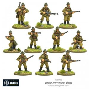 Warlord Games Bolt Action  Belgian Army (BA) Belgian Infantry Squad - 403017307 - 5060572501294