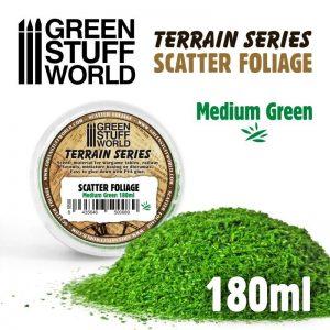 Green Stuff World   Lichen & Foliage Scatter Foliage - Medium Green - 180ml - 8435646500089ES - 8435646500089