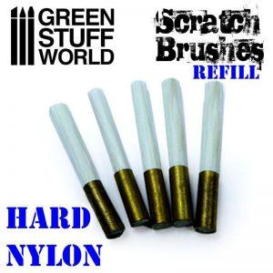 Green Stuff World   Green Stuff World Tools Scratch Brush Set Refill – Hard nylon - 8436574500141ES - 8436574500141