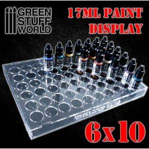 Green Stuff World   Paint Racks Paint Display 17ml (6x10) - 8436574503807ES - 8436574503807