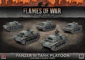 Battlefront Flames of War  SALE! Panzer III Platoon (plastic) - GBX105 - 9420020240674