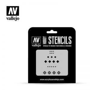 Vallejo   Stencils AV Vallejo Stencils - 1:35 Asstd German WWII Tank Marks - VALST-AFV001 - 8429551986373