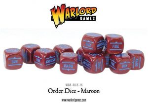 Warlord Games Bolt Action  Bolt Action Extras Bolt Action Orders Dice - Maroon (12) - WGB-DICE-16 - 5060200847008