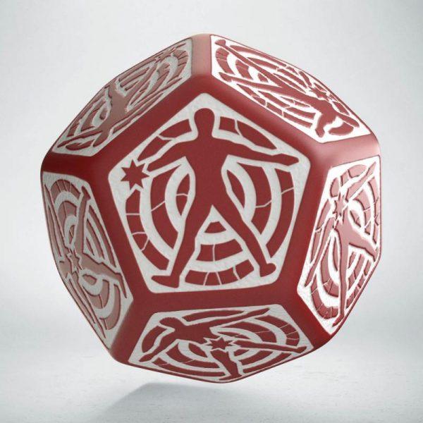 Q-Workshop   Q-Workshop Dice D12 Hit Location Red & white die - 12HIT03 - 5907699493708