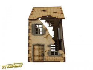 TTCombat   World War Scenics 28mm Ruined Terrace House - WAR031 - 5060504042956